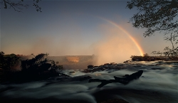 238A_LZmS_76774 First Light, Victoria Falls, Rainbow & Bridge