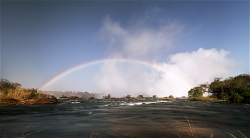 244A_LZmS_77576 Morning, Rainbow & Falls from upriver