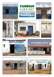 952_Zambian Sign Art Posters_Set of 3_Tarvens